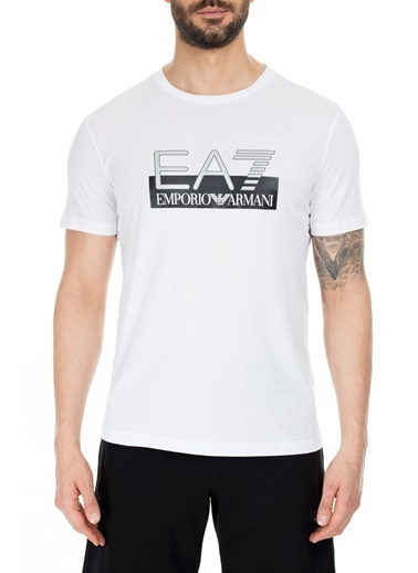 EA7 Emporio Armani  Regular Fit T Shirt Erkek T Shırt S 6Gpt81 Pjm9Z 1100 Beyaz